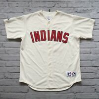 Vintage 90s Cleveland Indians Jersey by Majestic Made in USA Authentic