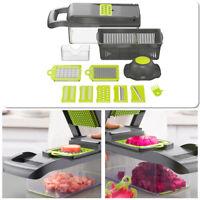 12Pcs Set Vegetable Chopper Mandolin Slicer Kitchen Cutter Cheese Fruit Dicer