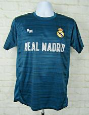 Real Madrid soccer jersey Official Football Striped Green MFC Sz Medium EUC