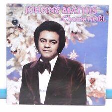 """33T JOHNNY MATHIS Disque Vinyl LP 12"""" CHANTE NOËL Noel CBS 81481 Frais Réduit"""