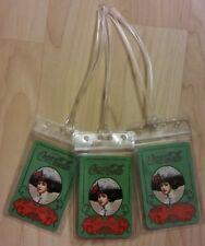 Coca Cola Gibson Girl Luggage Tags - Green Coke Soda Pop Playing Cards Set (3)