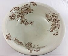 "Vintage British Anchor Pottery 15.5"" Earthenware Floral Basin Pottery Wash Bowl"