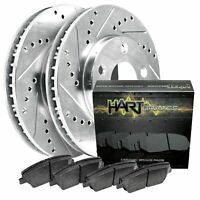 Front Drill Slot Brake Rotors /& Ceramic Brake Pads For Mitsubishi Eclipse Galant