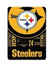 Pittsburgh Steelers blanket bedding 90x66 FREE SHIPPING Steelers NFL throw