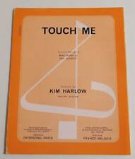 Partition vintage sheet music KIM HARLOW : Touch Me * 70's rare !