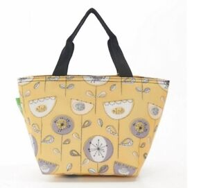 Eco-Chic Foldable Zipped Lunch Bag 100% Cool Bag Mustard