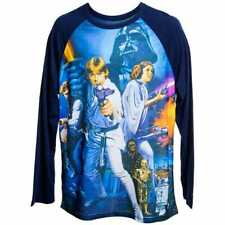 "Star Wars Original Movie Poster ""A New Hope"" Graphic Baseball Tee Shirt LG NWT!"
