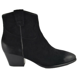 Ash Womens Boots Houston Casual Zip-Up Heeled Ankle Suede