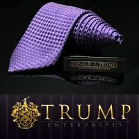 DONALD J. TRUMP~ SIGNATURE COLLECTION Solid Purple MAGA Luxury Tie