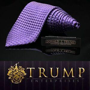 DONALD J. TRUMP~ SIGNATURE COLLECTION Solid Purple MAGA Luxury Tie