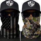 ( 2 ) Salt Armour SA Fishing Camo + Blackout American Flag Face Shields Mask