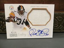 National Treasures Century Autograph Jersey Steelers Jerome Bettis 42/49  2013