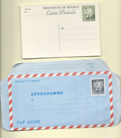 MONACO POSTAL CARD AND AEROGRAMME MINT CONDITION  FREE WORLD SHIPPING
