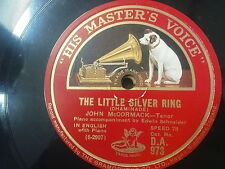 78rpm JOHN McCORMACK the little silver ring / bird song at eventide
