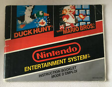 Duck Hunt and Super Mario Bros. - Instruction Booklet Only - Corner Fold - NES