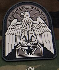 INDUSTRIAL EAGLE SWAT TACTICAL COMBAT BADGE HOOK PVC MILITARY MORALE PATCH