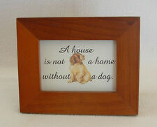 DOG PUPPY House Home LOVE PETS Easel Back FRAMED TREASURES Verses Poems Plaques