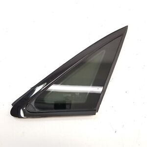 2017-2020 AUDI A4 S4 REAR RIGHT QUARTER GLASS WINDOW w/ BLACK MOLDING TRIM OEM