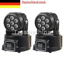 2x Moving Head 105W 7*15W RGBW Wash Lichteffekte DMX Bühnen Licht 9/14CH KTV