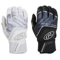 Rawlings Workhorse w/ Strap Adult Men's Baseball Batting Gloves - Black & White