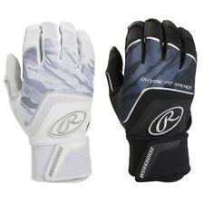 Rawlings Workhorse w/ Strap Adult Men's Baseball Batting Gloves - Black & White