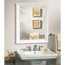 Contemporary White Frame Wall Mirror 2077