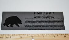 CAVE BEAR Large Metal Display Label For Fossils