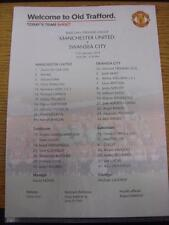11/01/2014 Colour Teamsheet: Manchester United v Swansea City  . Item in very go