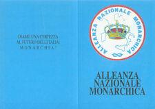 C193 Tessera dell'Alleanza Nazionale Monarchica - non nominative