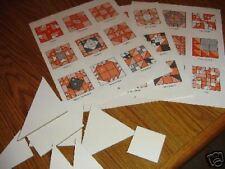 Plastic Templates - 162 nine inch quilt blocks