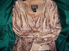 VINTAGE GOLD BROCADE ESCADA COUTURE  SKIRT SUIT SIZE 38 BUST SIZE