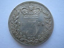 1859 Young Head silver Threepence, GVF. Davies 1273