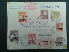 Nederlands Indie mengfrankering met LP 1/5 op aanget brief Bandoeng - Den Haag