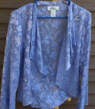Women's Purple Sheer Blouse by Patra; Size: 12