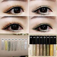 8Farbe Liquid Glitter Eyeliner Lidschatten Glänzend Wasserdicht Make-up Kosmetik