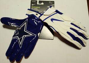 Nike Superbad Dallas Cowboys  Football Gloves Size 3XL NEW NFL NWT Very Rare
