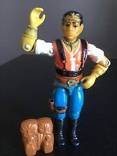 """Vtg G.I. Joe 1987 Red Dog Action Figure S6 V1 3-3/4"""" & Backpack"""