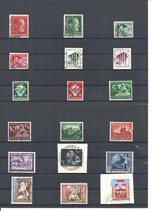 Deutsches Reich 1939, verschiedene Einzelmarken aus MiNrn: 664 - 829 gestempelt