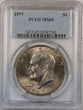 1977 Eisenhower  Ike Dollar $1 Coin PCGS MS65 (BR-37 E)