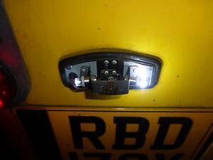 2x 5 SMD LED 233 BA9S T4W T8.5 Broche Poussoir Casquette 360 Xenon Hid Blanc Feu