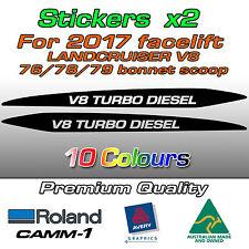 V8 TURBO DIESEL Sticker for 2017- Landcruiser 76 70 78 79 series bonnet scoop