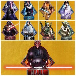 Star Wars Card Trader GOLD Badges of War 2015 SET + 58cc Darth Maul AWARD SWCT