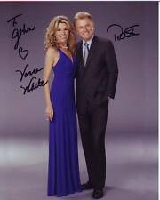 VANNA WHITE & PAT SAJAK Autographed Signed WHEEL OF FORTUNE Photograph - To John