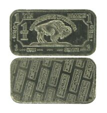 1 gram 1g USA American Buffalo .999 Pure Tin Bullion Bar Sn Element