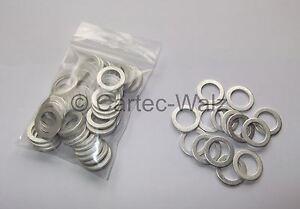 100 STÜCK Aluminiumringe Alu Dichtring Dichtung AL 14x20x1,5mm DIN7603 Form A
