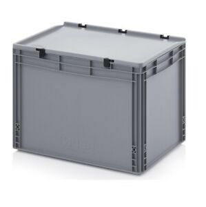 Eurobehälter 60x40x43,5 mit Deckel Stapelbehälter*Lagerbox*Stapelbox*600x400x435