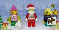 Lego Santa Father Christmas Minifigure Elf Elve Helpers little girl Xmas