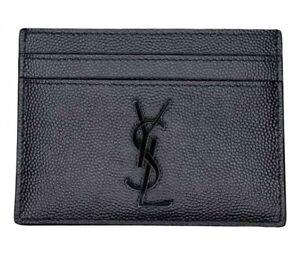SAINT LAURENT - Card Holder - Black/Leather (100% AUTHENTICITY GUARANTEED)