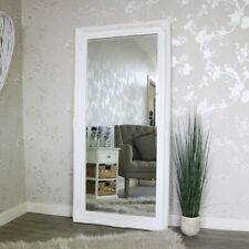 Extra Large White Wall Floor Ornate Mirror bedroom hall living room vintage home