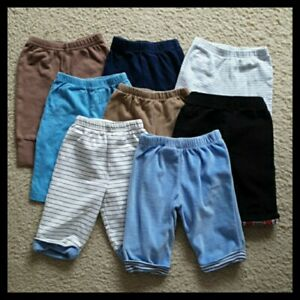 Baby Boys' 3-6M Pull-On Bottoms Lot 8 Piece Casual & Jogger Pants Bundle